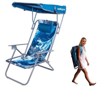 kelsyus low seat beach chair with canopy 2